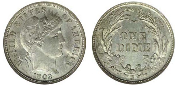 The Barber Dime